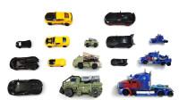 跑车卡车机器人玩具变形