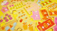 木制拼图玩具学习糖果和水果