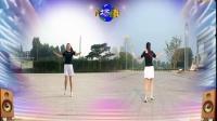 好心情蓝蓝广场舞原创欢快动感健身舞【DJ凤凰姑娘正背面】附教学