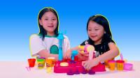 彩泥橡皮泥,儿童手工DIY玩具,冰淇淋雪糕机
