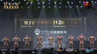 男子健美职业组212磅以下组比赛(一)  第十五届黄金联赛总决赛