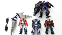4款擎天柱玩具还有终极奥义天火套装版机器人变形玩具