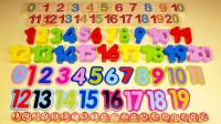通过多种木制玩具认识数字