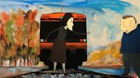 虐心动画《火车火车过山洞》,年迈母亲,带着中年儿子走上了铁轨