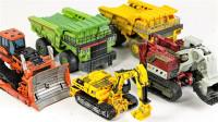 变形金刚建筑工程挖地虎成员破坏者拖斗狂暴废渣机器人变形玩具