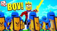 Roblox军队模拟器游戏 一次性买2个10万的盔甲 再也不怕小怪了