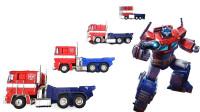 4款不同型号尺寸的变形金刚擎天柱机器人变形玩具