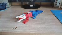 小津的变形金刚玩具视频—官方泰坦回归鳄龙重涂DIY-鳄鱼擎天柱