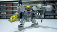 乐高MOC拼装Nexoknights Axl的动力装甲积木