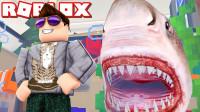 Roblox水族馆大亨 去水底捕捉鲨鱼