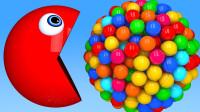 吃豆人:今天来吃一些3D棒棒糖(颜色认知)游戏