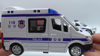 少儿玩具车视频:多开门警察公务车模型,早教益智玩具视频