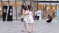 时尚的姑娘,初夏搭配,穿上高跟鞋就是不一样