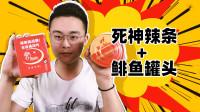 饺子Vlog:饺子试吃魔鬼辣条蘸鲱鱼罐头汤汁?作死作出新花样