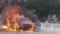 吉利星越新车自燃,火势凶猛且伴随爆炸!吉利官方尚未回应