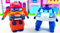 变形警车珀利和马克 儿童玩具车