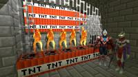 GMOD:岩浆怪兽被奥特曼关在TNT牢房还能走吗?