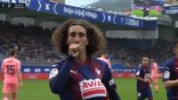 第20分钟埃瓦尔球员库库雷利亚进球 埃瓦尔1-0巴塞罗那