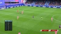 第45分钟埃瓦尔球员德布拉希斯进球 埃瓦尔2-2巴塞罗那