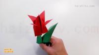 折纸花视频教程,如何折立体郁金香,折纸花大全