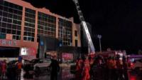 广西百色一酒吧发生屋顶坍塌 已造成1死77伤