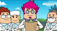 搞笑吃鸡动画:沙博士发明的喵背包,把自己小弟放进去,变成了一块叉烧