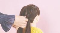 简单时尚的鱼骨辫教程,学会让女儿的发型不再重样!