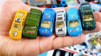 合金货车微型卡车消防车等小汽车玩具拆盒