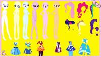 小马宝莉手工剪纸:6位公主要参加节日派对,快来帮她们打扮一下吧!谁是最丽公主呢?