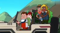 搞笑吃鸡动画:瓦特单人吃鸡太无聊,竟当起爱心司机,结果还真有人上车!