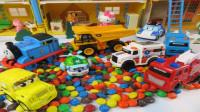 认识救护车消防车等小汽车玩具