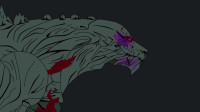 哥斯拉大战邪恶坦克,被打得浑身发红 动漫特效