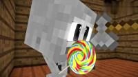 MC动画怪物学院《找糖果》,末影人在怪物的面前抢走了糖果