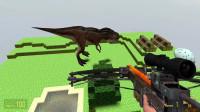 奥特曼:史蒂夫与火柴人能打败巨大的恐龙吗?