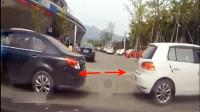 两个女司机同时倒车,下一秒被她们蠢哭了!