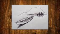 钢笔速写小船窦老师教画画
