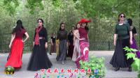 紫竹院广场舞,花开的季节时装模特一《红莓花儿开》