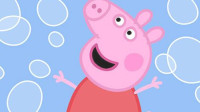 小猪佩奇与可爱的泡泡儿童卡通简笔画