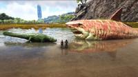 方舟生存进化-VS系列 巨型鲨鱼VS海洋霸主苍龙 谁更厉害