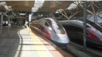 """G68次列车搭载""""复兴号""""CR400AF重联型车底,从长沙南站4站台发车!"""