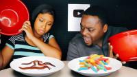 真假美食大挑战:有吃有喝充满乐趣,谁的运气会更好?