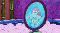 飞行大脑闯进了章鱼哥的浴室,吓得章鱼哥以为外星人入侵了