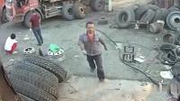 男子这样去修理大货车,生前最后一幕被拍下