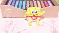 跟我一起来用粘土做一个超级可爱的海绵宝宝吧