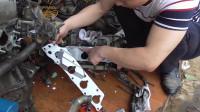 发动机进气支管垫片坏掉了,小雄用这个方法代替能用吗?