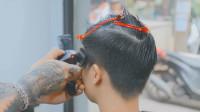 """小头发容易翘发型想改变,到理发店剪了""""新款飞机头""""完全不一样"""