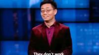 中国人黄西,在美国表演脱口秀,笑翻在场的美国人