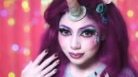 小马宝莉仿妆秀:国外女子将自己化妆打扮成了珍奇!