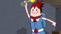 搞笑吃鸡动画:论萌妹的各种死法,即使换上幸运色也难逃天命圈的制裁!