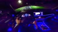 夜晚试驾宝马X5 M50d G05,听听隔音咋样?内饰还挺漂亮的!